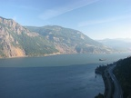 The Starvation Ridge Trail quickly climbs to this wonderful view of the Columbia River Gorge looking east.
