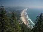 The summit of Neahkahnie Mountain has this great view of the beach at Manzanita.
