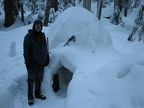 Here I am next to my igloo.