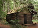 This cabin is the oldest surviving structure at Mt. Rainier National Park. It was built by Elcaine Longmire in 1888.