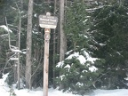 Trailhead sign for Trillium Lake Sno-Park.