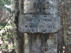 Trail sign for the Anthill Trail near Wahtum Lake.