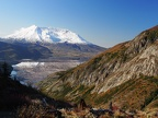 Norway Pass has a great view of Spirit Lake. Look closely and you can see the reflection of Mt. St. Helens.