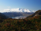 Another beautiful view of Spirit Lake and Mt. St. Helens with all the fall colors.
