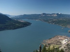 Looking west into the Columbia River Gorge from the summit of Wind Mountain, Washington.