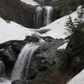 The snow can stay late at Comet Falls. The trail can still be covered with snow in July.